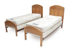 Gnomeman: Thomas Whittaker (1912-1991) (Littlebeck): A Pair of 2' 6'' Single Bedsteads, the