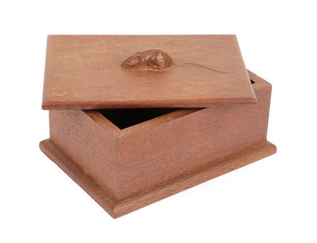 Workshop of Robert Mouseman Thompson (Kilburn): An English Oak Bespoke Box and Cover, c.1972, the - Image 2 of 2