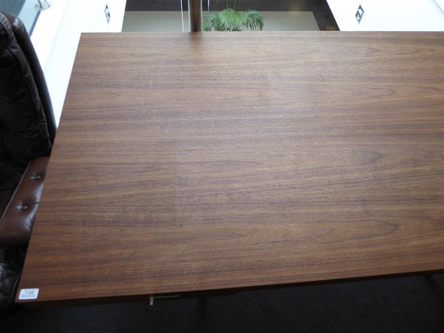 A Carl Hansen & Son Walnut CH110 Directors Desk, with two slender drawers, each with dividers - Image 3 of 9
