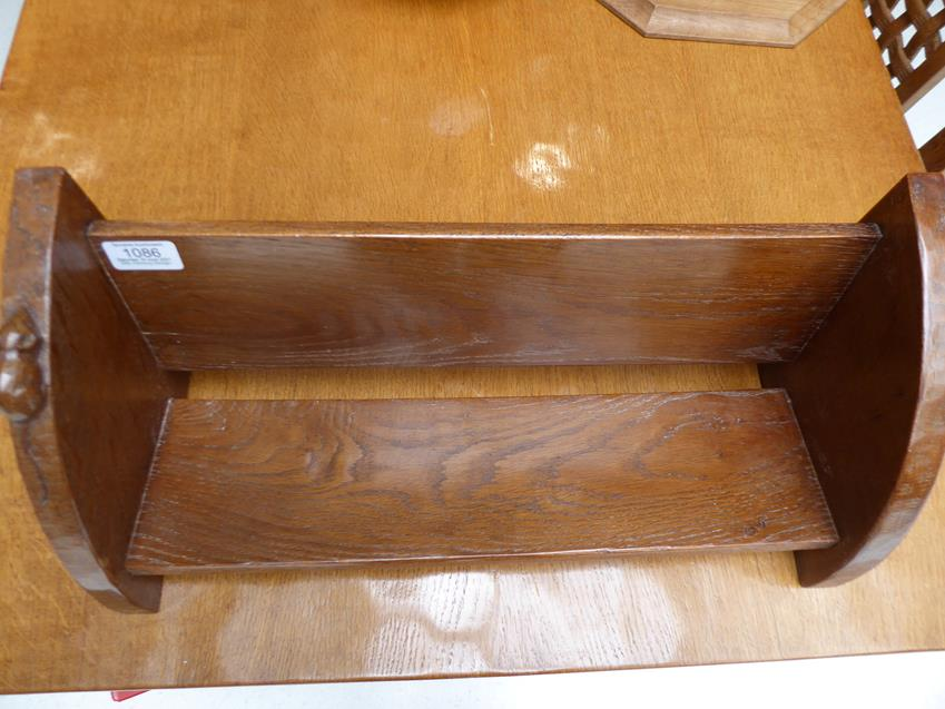 Workshop of Robert Mouseman Thompson (Kilburn): An English Oak Book Trough, with carved mouse - Image 8 of 8
