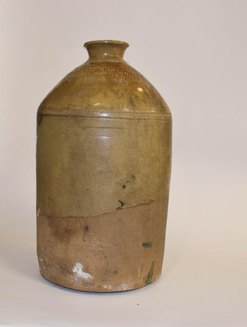 A 19th century baluster stoneware flagon, H Masterman of Thirsk, 50cm, together with another - Image 8 of 10