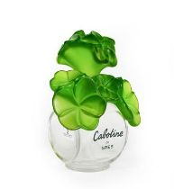 A Cabotine de Gres Oversized Perfume-Bottle, with green foliage stopper, 23cm high