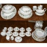 A Wedgwood Spring Morning part dinner service, Wedgwood coffee wares retailed by Mortlocks of Oxford