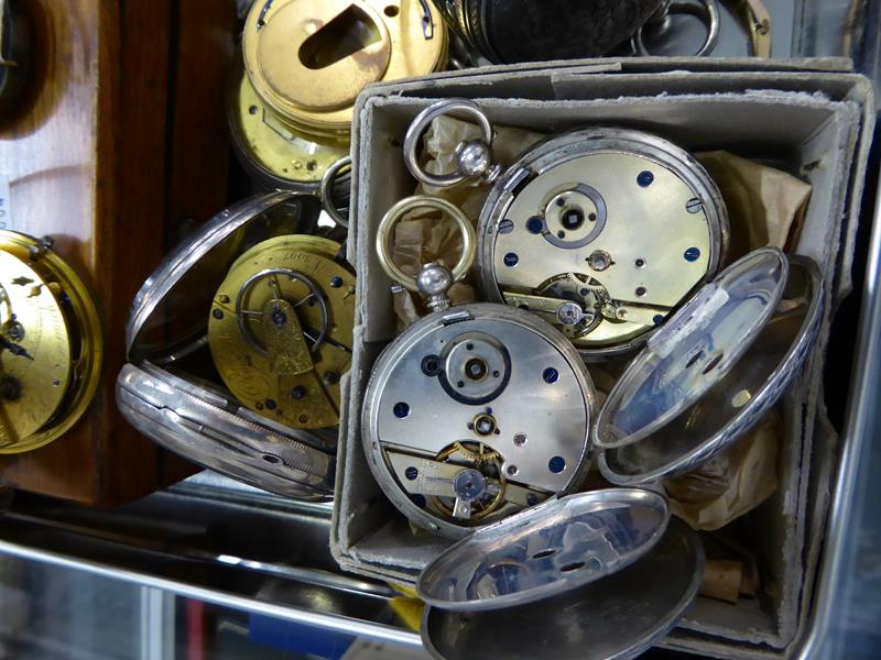 Eight silver open faced pocket watches, enamel dialled wristwatch, movement signed Rolex (case - Image 4 of 4