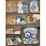A group of miscellaneous household ceramics and glass, including: decorative Booths blue and white