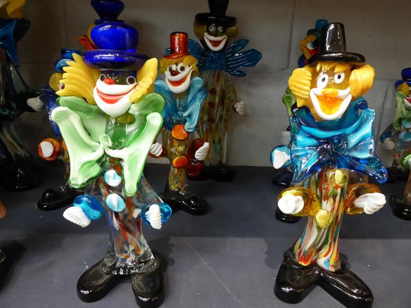 Seventeen Murano and Murano style clowns - Image 3 of 12