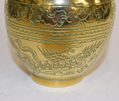A large early 20th century Japanese brass koro and cover on tri-form hardwood stand, a similar jar - Image 23 of 25