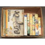 Two boxes of Diecast metal and plastic scale kit models, small group of play worn vehicles, boxed
