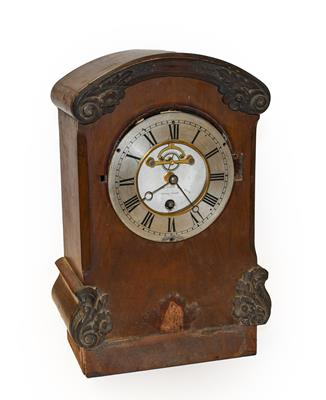 A Victorian mahogany regulator one year going table clock, dial centre inscribed ''regulator going