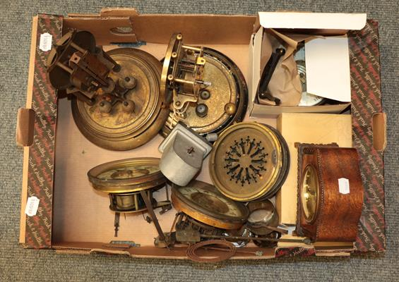 A selection of mantel clocks, wall timepiece, wall clock cases, fortin barometer signed S & A - Image 2 of 6