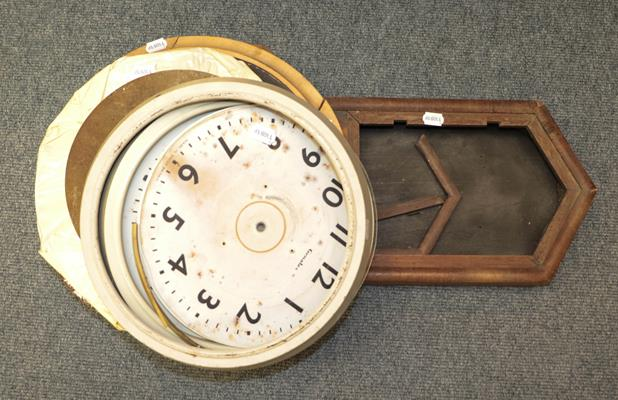 A selection of mantel clocks, wall timepiece, wall clock cases, fortin barometer signed S & A - Image 3 of 6