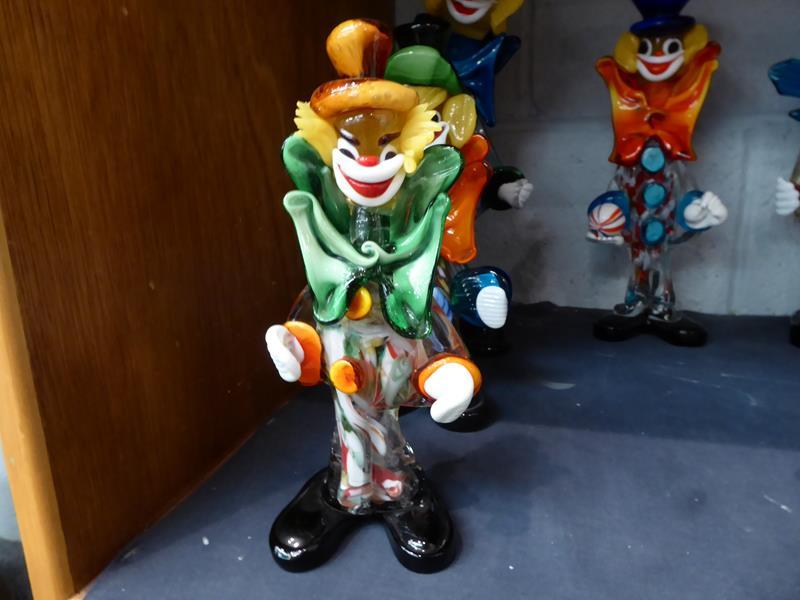 Seventeen Murano and Murano style clowns - Image 12 of 12
