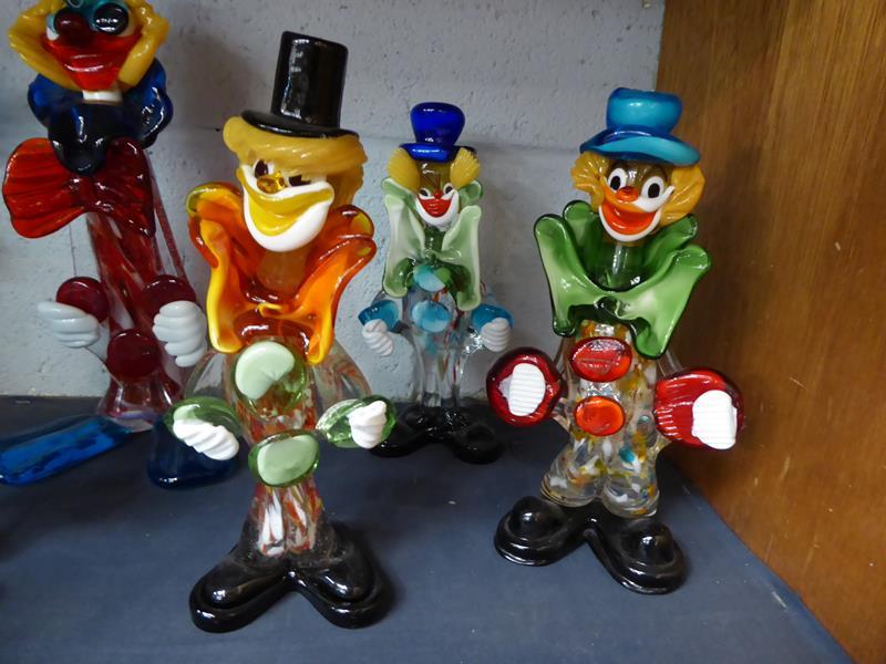 Seventeen Murano and Murano style clowns - Image 5 of 12