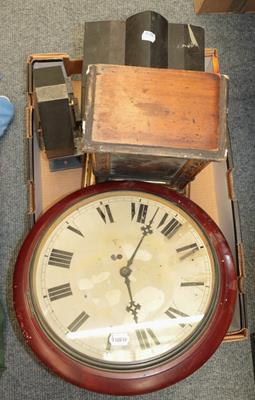 A selection of mantel clocks, wall timepiece, wall clock cases, fortin barometer signed S & A - Image 6 of 6