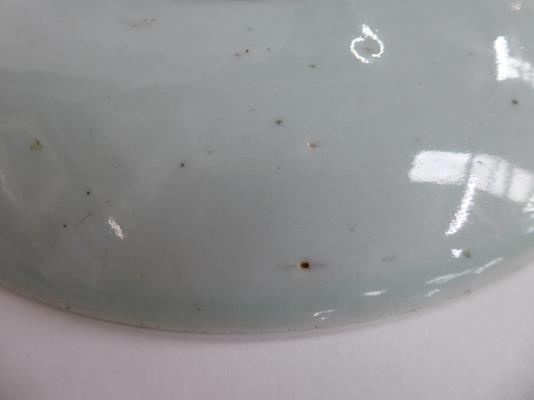 An early 20th century Chinese famille vert plate decorated with butterflies, a smaller famille - Image 15 of 15