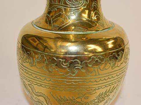 A large early 20th century Japanese brass koro and cover on tri-form hardwood stand, a similar jar - Image 22 of 25