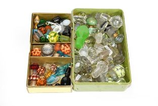 Three Boxes of Assorted Glass Scent and Other Bottle-Stoppers, variously formed and a small