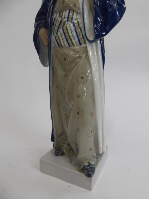 A Royal Copenhagen figure of a bearded man, together with a Royal Copenhagen vase and pin tray ( - Image 3 of 11