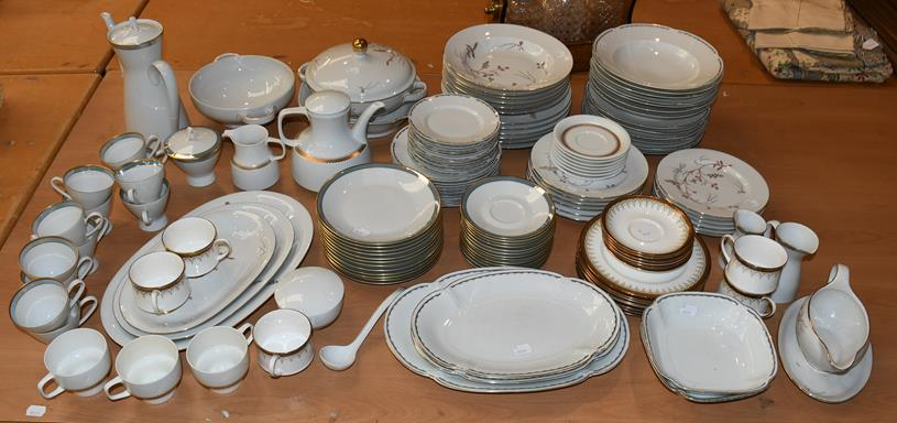 Large quantity of dinner tea and coffee wares, by Eschenbach, Rosenthal, Ohne and Paragon