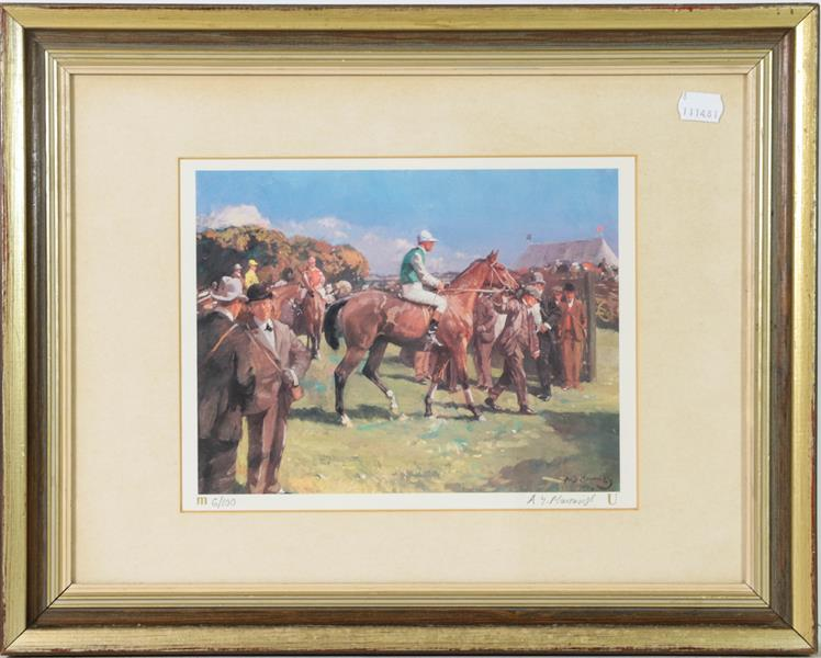 A large collection of colour racing prints, hunting prints and a landscape, various sizes (qty) - Image 7 of 20