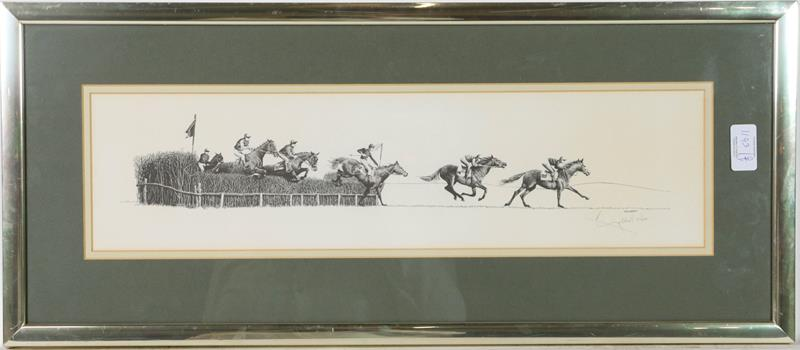A large collection of colour racing prints, hunting prints and a landscape, various sizes (qty) - Image 9 of 20