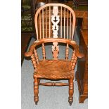 A Victorian Windsor chair