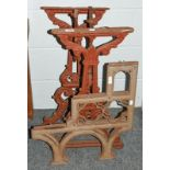 Four Victorian cast iron bench supports