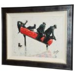 Alexander Millar (Contemporary) ''Cowboys'' Signed and numbered 95/195, giclee print on board,