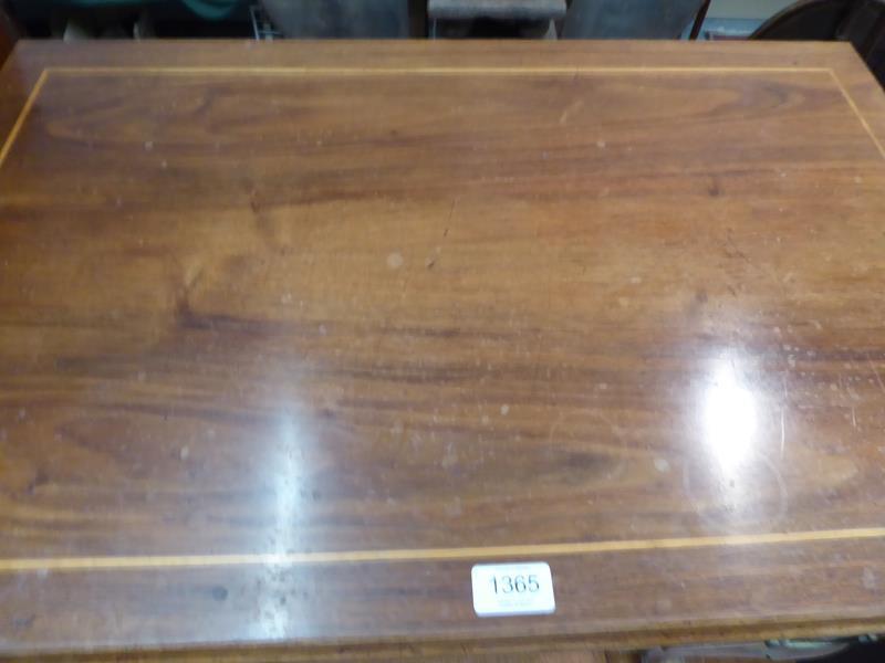 A satinwood inlaid walnut lowboy, 76cm by 49cm by 72cm - Image 12 of 12