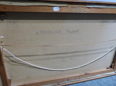 Kit Barker (1916-1988) ''Waldensee Polder'' Signed, inscribed verso, oil on canvas, 56cm by 91cm - Image 4 of 12