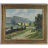 C Wiegman (20th century) Country landscape signed oil on canvas together with Kietel manner of