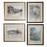 A Hargraves (Contemporary) ''King Street, Whalley'' Signed watercolour, together with another