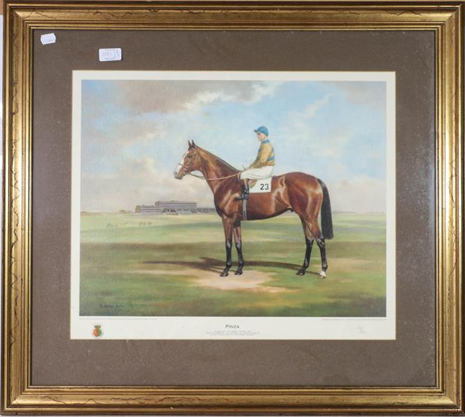 A large collection of colour racing prints, hunting prints and a landscape, various sizes (qty) - Image 11 of 20