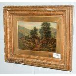 Robert John Hammond (1882-1911) Homeward Bound, indistinctly signed oil on canvas, 15cm by 23cm