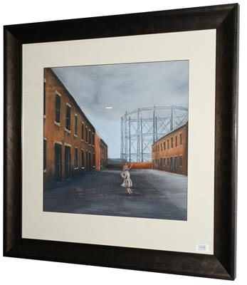 Michelle Milburn (Contemporary) A child skipping Signed, pastel, 48cm by 50.5cm Artist's Resale