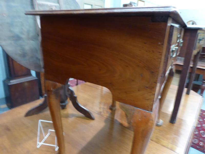 A satinwood inlaid walnut lowboy, 76cm by 49cm by 72cm - Image 9 of 12