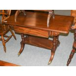 A 19th century mahogany writing table, 119cm by 60cm by 73cm
