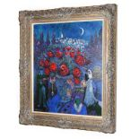 John Myatt After Marc Chagall ''Wedding Flowers'' Signed verso and numbered 31/75, giclee print on