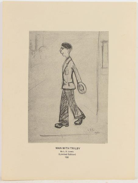 After Laurence Stephen Lowry RBA, RA (1887-1976) Study of a standing girl Oil on canvas, together - Image 3 of 4