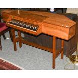 John Morley of London harpsichord, virginal number 940 with tuning key