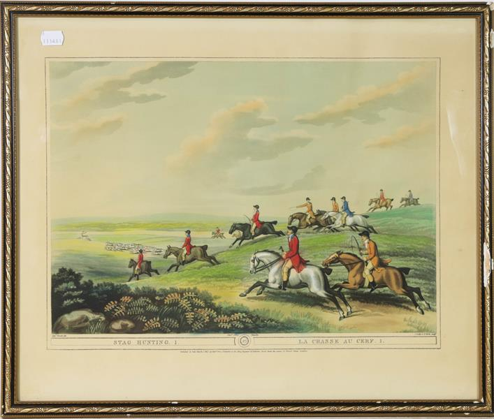 A large collection of colour racing prints, hunting prints and a landscape, various sizes (qty) - Image 5 of 20