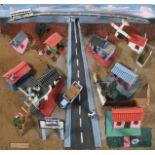 Jackson Nkumanda (b.1948) South African Township Mixed media 3D model on board, 47cm by 64cm See