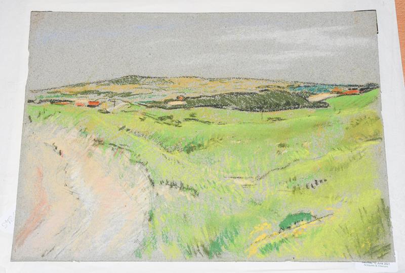 Philip Naviasky (1894-1983) Dales scene Pastel, 26cm by 35cm (unframed) Artist's Resale Rights/Droit