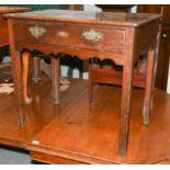 An 18th century oak side table, 78cm by 48cm by 70cm