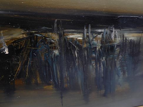 Kit Barker (1916-1988) ''Waldensee Polder'' Signed, inscribed verso, oil on canvas, 56cm by 91cm - Image 9 of 12