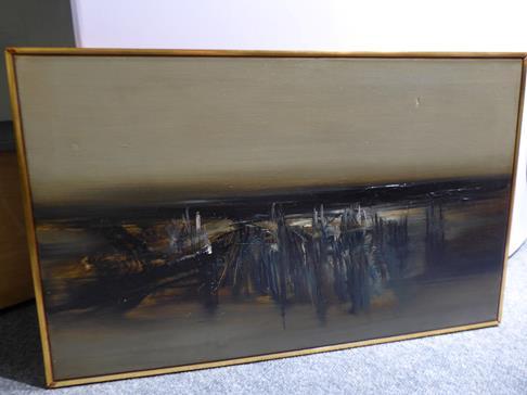 Kit Barker (1916-1988) ''Waldensee Polder'' Signed, inscribed verso, oil on canvas, 56cm by 91cm - Image 8 of 12