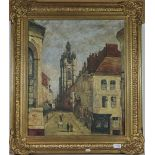 S Conti (Contemporary) Townscape, signed oil on canvas, 60cm by 50cm