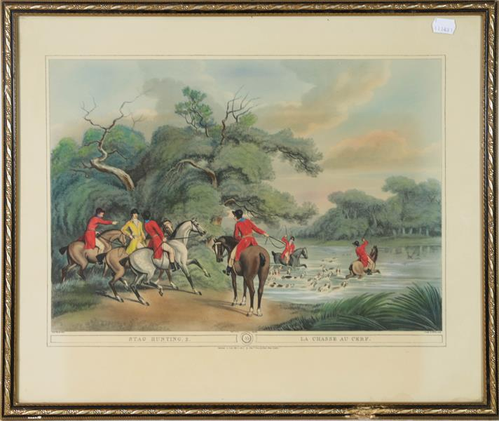 A large collection of colour racing prints, hunting prints and a landscape, various sizes (qty) - Image 6 of 20