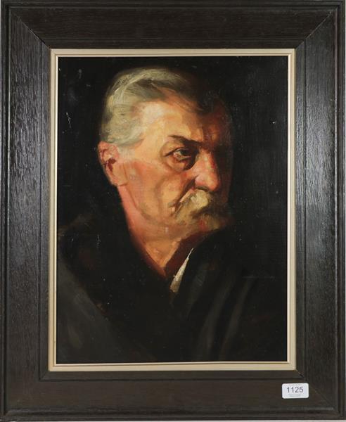 Continental School (20th century) Portrait of Friedrich Nietzsche, Oil on board, 45cm by 33.5cm
