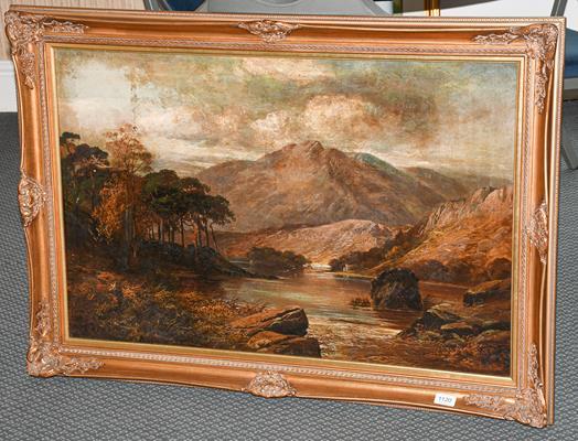 British School (19th/20th century) Highland landscape, instinctly signed, oil on canvas board,